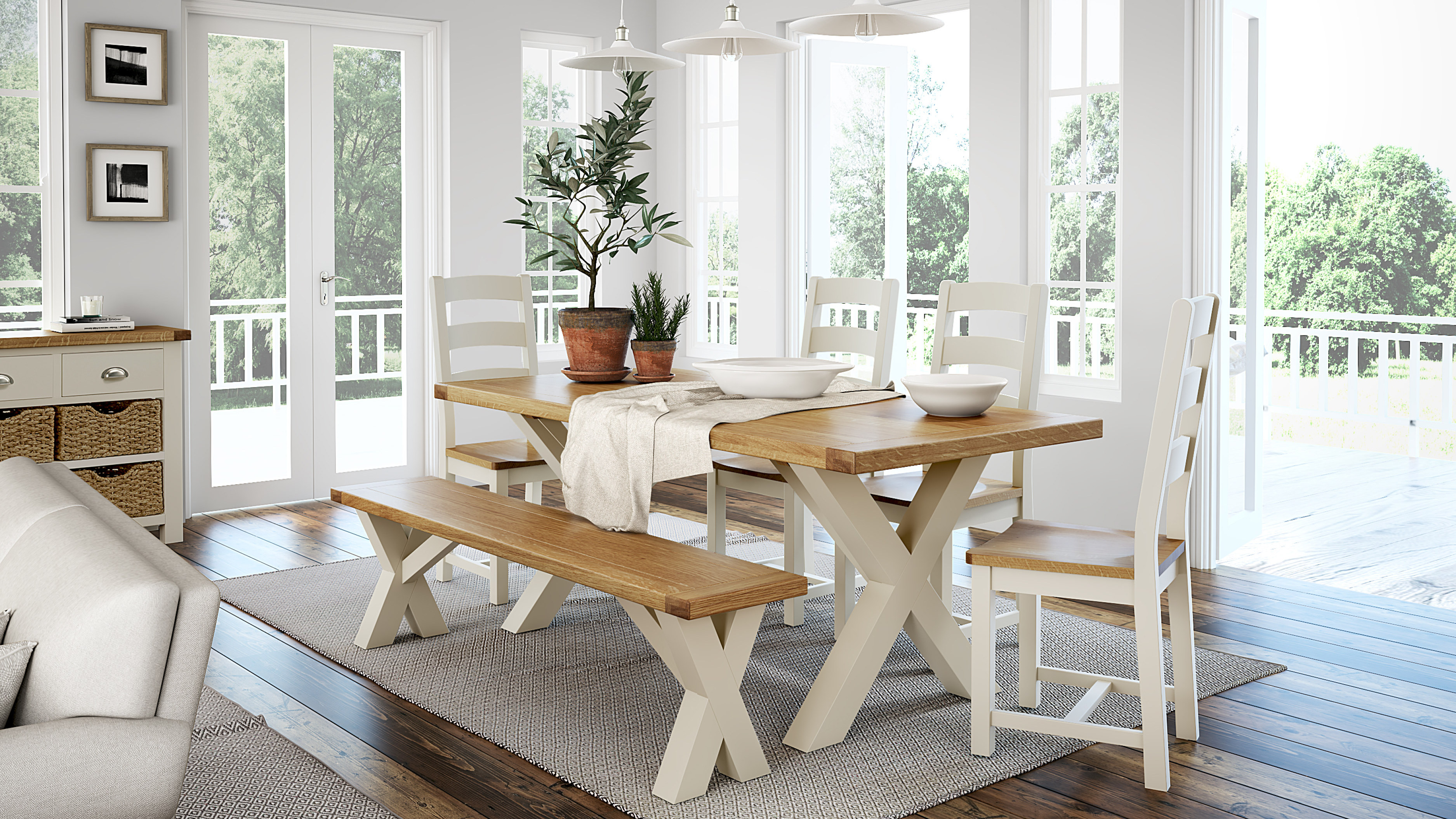 Rustique Home Florence Painted and Natural Oak Collection