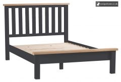 Bucks Charcoal Double 4ft 6in Bed