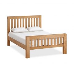 Roma Double 4ft 6in Bedframe Natural Rustic Oak Hard waxed finished