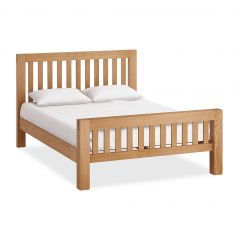 Roma Kingsize Double 5ft Bedframe Natural Rustic Oak Hard waxed finished