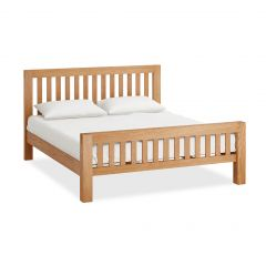 Roma Super Kingsize 6ft Bedframe Natural Rustic Oak Hard waxed finished
