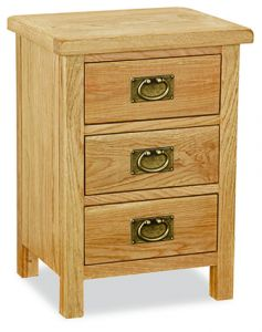 London Oak Lite Bedside Natural Rustic Oak Hard waxed finished