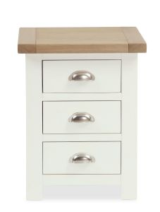 Florence Bedside Two Tone, Soft Cream and Natural Oak Soft Cream hand painted finished