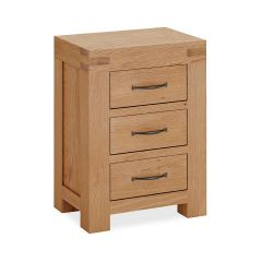 Roma Bedside Chest Natural Rustic Oak Hard waxed finished