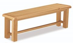 London Oak Small Bench Natural Rustic Oak Hard waxed finished