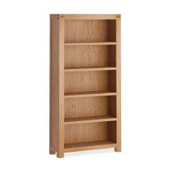 Roma Large Bookcase Natural Rustic Oak Hard waxed finished