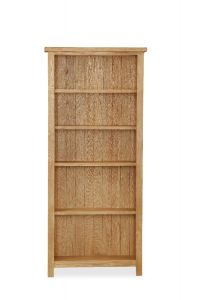 London Oak Lite Large Bookcase Natural Rustic Oak Hard waxed finished