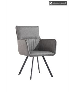 Chair Collection Carver Chair - Grey and Graphite