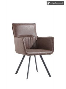Chair Collection Carver Chair -Brown and Graphite