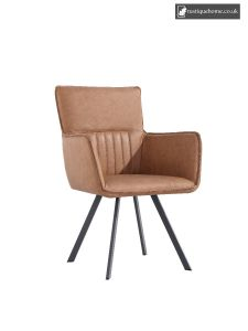 Chair Collection Carver Chair -Tan and Graphite