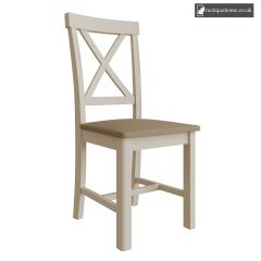 Chelsea Grey Chair - Dove Grey and Light Oak