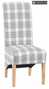 Chair Collection Chair Design 05 - Cappuccino Check and Light Oak