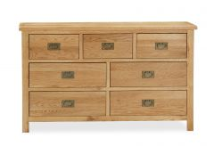 London Oak Lite 3 Over 4 Chest Natural Rustic Oak Hard waxed finished