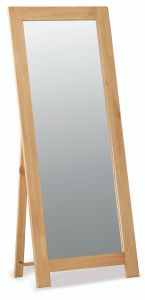 London Oak Standard Size Cheval Mirror 165cm x 65cm Natural Rustic Oak Hard waxed finished