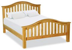 London Oak Kingsize Double 5ft Classic Bedframe Natural Rustic Oak Hard waxed finished