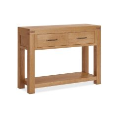 Roma Console Table Natural Rustic Oak Hard waxed finished