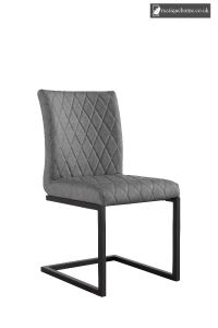 Chair Collection Diamond Stitch Dining - Grey and Graphite