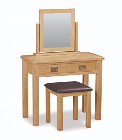 London Oak Lite Standard Dressing Table Set Natural Rustic Oak Hard waxed finished