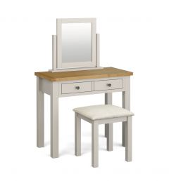 Cannes Standard Dressing Table Set Two Tone, Soft Grey and Natural Oak Soft grey hand painted finished