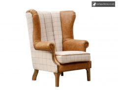 Chair Collection Fluted Wing Chair - Tan