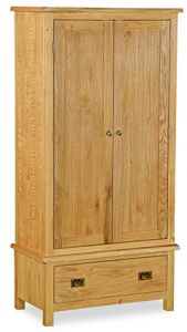 London Oak Lite Gents Wardrobe Natural Rustic Oak Hard waxed finished