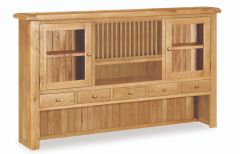 London Oak Extra Large Hutch Top Dresser Natural Rustic Oak Hard waxed finished