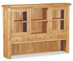 London Oak Medium Hutch Top Dresser Natural Rustic Oak Hard waxed finished