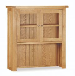 London Oak Small Hutch Top Dresser Natural Rustic Oak Hard waxed finished