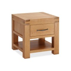 Roma Lamp Table Natural Rustic Oak Hard waxed finished