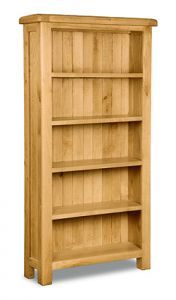 London Oak Large Bookcase Natural Rustic Oak Hard waxed finished
