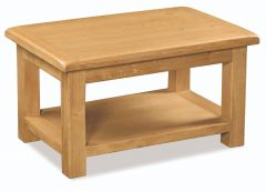 London Oak Large Coffee Table Natural Rustic Oak Hard waxed finished