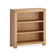 Roma Low Bookcase Natural Rustic Oak Hard waxed finished