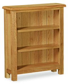 London Oak Lite Low Bookcase Natural Rustic Oak Hard waxed finished