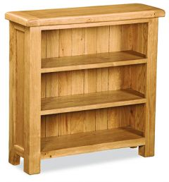 London Oak Low Bookcase Natural Rustic Oak Hard waxed finished