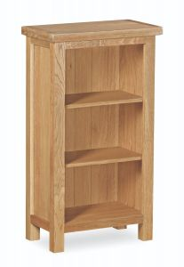 London Oak Lite Mini Bookcase Natural Rustic Oak Hard waxed finished