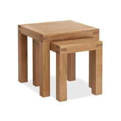 Roma Nest Of Tables Natural Rustic Oak Hard waxed finished