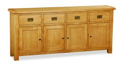 London Oak Extra Large Sideboard Natural Rustic Oak Hard waxed finished