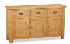 London Oak Large Sideboard Natural Rustic Oak Hard waxed finished