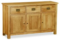 London Oak Lite Large Sideboard Natural Rustic Oak Hard waxed finished