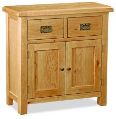 London Oak Medium Sideboard Natural Rustic Oak Hard waxed finished