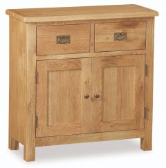 London Oak Lite Mini Sideboard Natural Rustic Oak Hard waxed finished