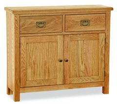 London Oak Lite Small Sideboard Natural Rustic Oak Hard waxed finished