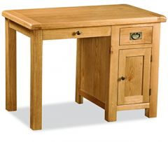 London Oak Single Desk Natural Rustic Oak Hard waxed finished