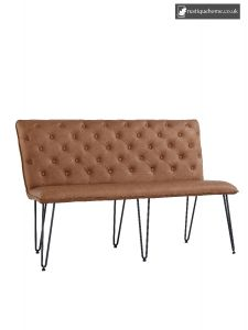 Chair Collection Studded Back Bench 140 Cm - Tan