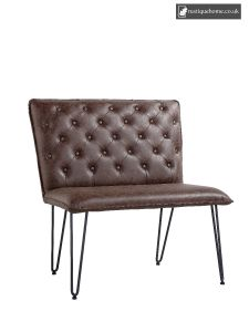 Chair Collection Studded Back Bench 90 Cm - Brown