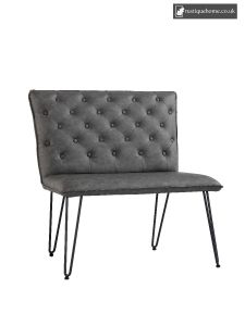 Chair Collection Studded Back Bench 90 Cm - Grey