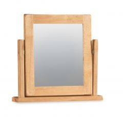 London Oak Standard Size Vanity Mirror 57cm x 59.5cm Natural Rustic Oak Hard waxed finished