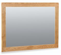 London Oak Wall Mirror 89cm x 120cm Natural Rustic Oak Hard waxed finished