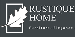 Grey and White logo for London furniture Store Rustique Home Ltd website rustiquehome.co.uk